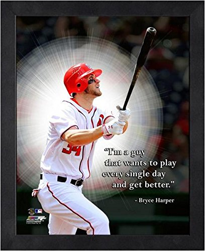 Bryce Harper Washington Nationals framed Pro Quotes 16x20