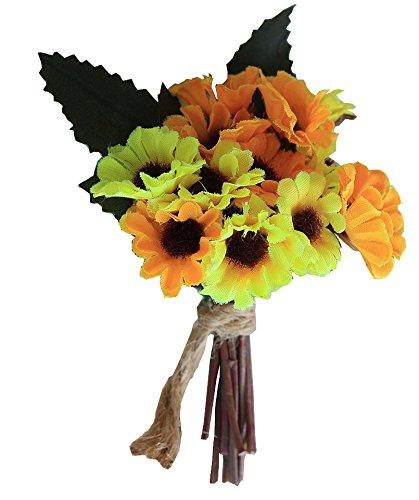 fouriding Boutonniere Marie flor girasol flor artificial broche de ...