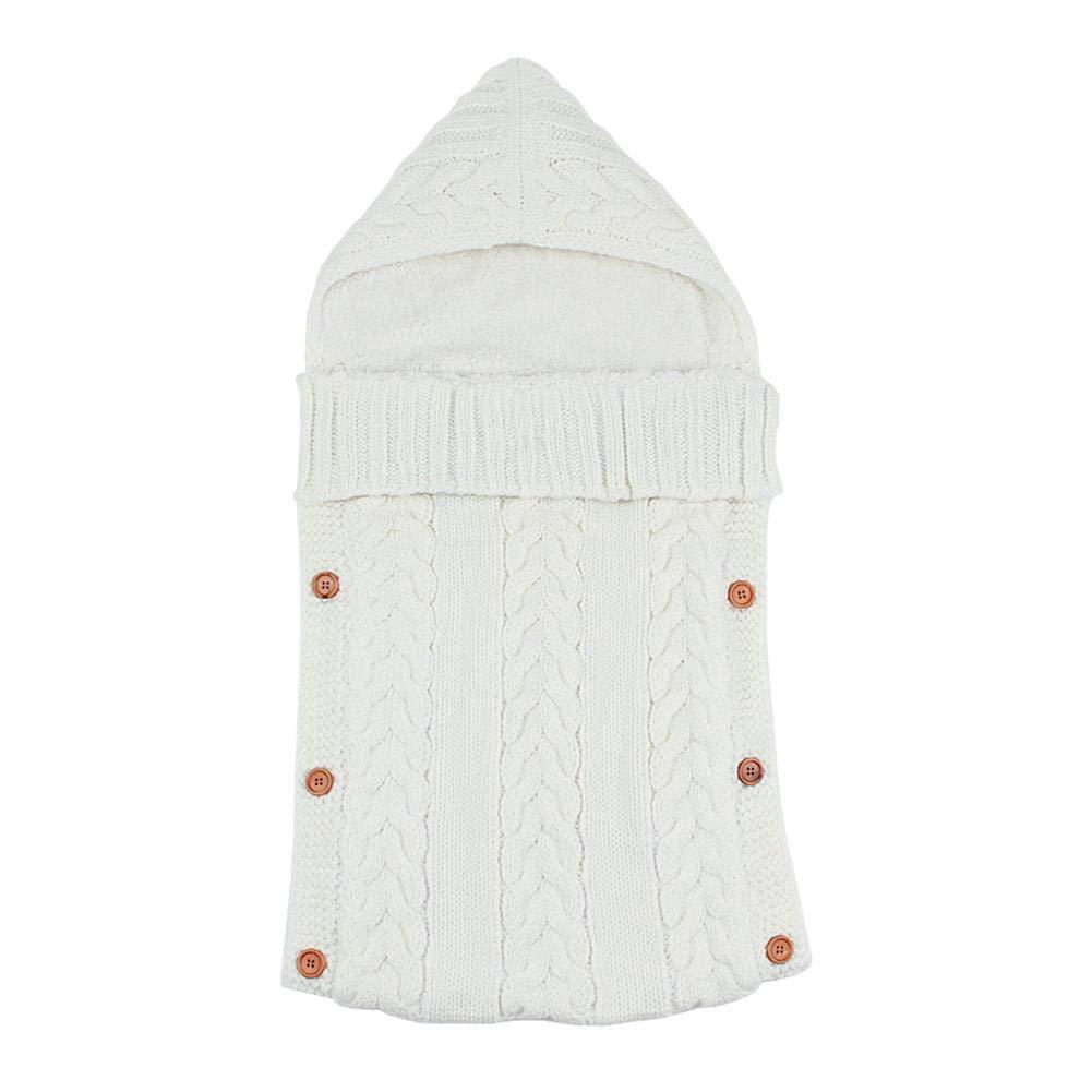 Silveroneuk - Manta para bebé con diseño de saco de dormir beige beige Talla:talla única