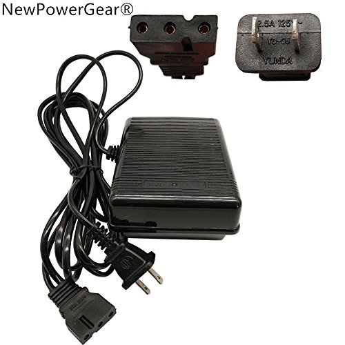 NewPowerGear Foot Control Pedal Replacement For Singer 14SH644, 14SH654, 14CG754 Simplicity SW2145, S02, S10