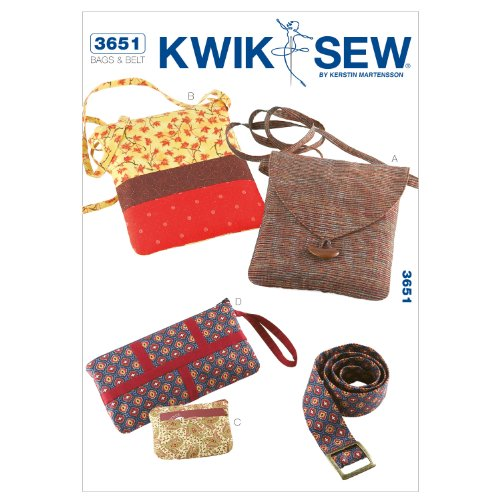 Sewing Coin Purse - Kwik Sew K3651 Bags Sewing Pattern, Coin Purse