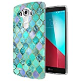 c1096 - Cool Geometric Snake Skin Effect Blue Green Colours Design LG G3 Fashion Trend CASE Gel Rubber Silicone All Edges Protection Case Cover
