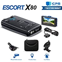 Escort X80 Radar Detector (0100018-4) + Smart Direct Wire Cord + CPS Extended Warranty & Minolta 1080p Full HD Dash Cam with Night Vision and Motion Detection - Advanced Bundle