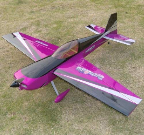 Planes Arf Electric (Model Airplane Slick DOMIN-8-TRIX 1.2M 47.2in Electric RC Wooden Model Airplane Purple)