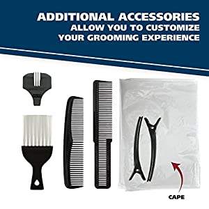 Wahl Clipper Color Pro Complete Hair Clipper Haircut Kit with Extended Accessories & Cape for Men Kids and Babies, by the Brand used by Professionals, # 79300-1001