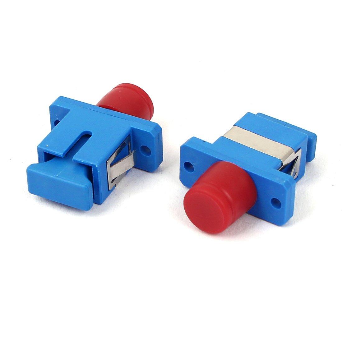 uxcell FC-SC Female to Female Hybrid Optical Fiber Coupler Flange 10pcs