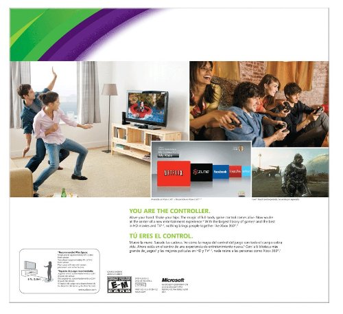 Xbox 360 4GB Console with Kinect by Microsoft (Image #3)