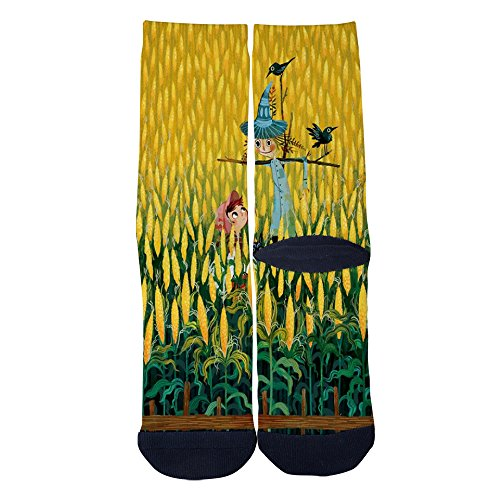 Mamie Jane Custom Elite Socks Corn Field Farm Casual Cartoon Socks Christmas Socks Gifts