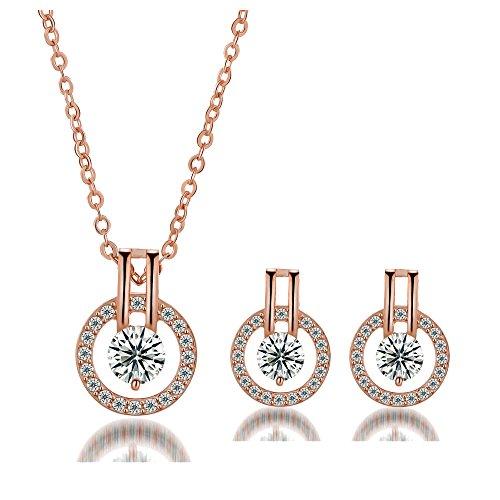 Nurbo Fashion Rhinestone Necklace Earrings