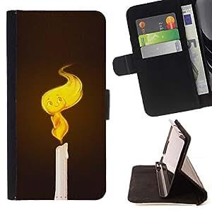 Momo Phone Case / Flip Funda de Cuero Case Cover - Vela linda Llama - Samsung Galaxy Core Prime