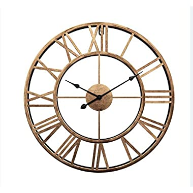 LightInTheBox New Update 3D Large Metal Wall Clocks Farmhouse Decor (24 x24  (60cmx60cm))