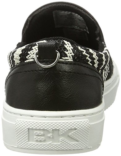 British Knights Damen Chip Slipper Schwarz (Black/White)