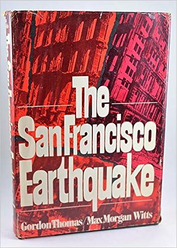 The San Francisco Earthquake Max Morgan Witts Gordon Thomas