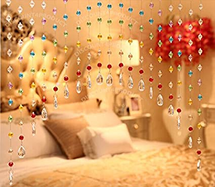 Buy Discount4Product 20 String Crystal Strings Bead Hanging Curtain ...