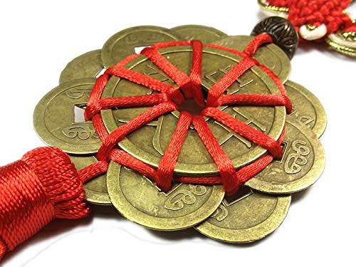 Set Of - 100pcs Red Chinese Knot Feng Shui Set Of 10 Lucky Charm Ancient I Ching Coins Prosperity Protection - Draws Robes Case Bags Gold Eating Hand Glass Tables Eyelashes Suitcases Lanterns Ho