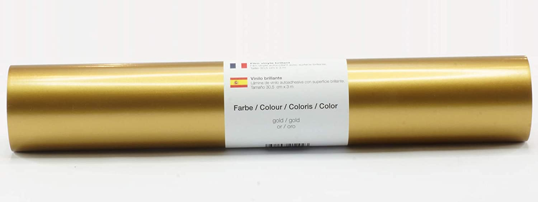 Lámina de plotter autoadhesiva lámina de vinilo 21 cm x 3 m brillo 39 colores a elegir, Glänzend L-Serie:Oro: Amazon.es: Hogar