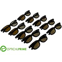 Optical Prime 3D (10 Pack) Cinema Glasses For Home Theater, lg Sony Tvs with Passive RealD Technology Circular Polarized