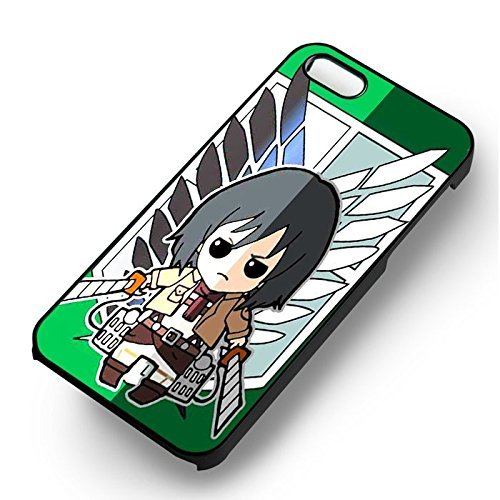 Attack On Titan Chibi for Cover Iphone 7 Case (Black Hardplastic Case) B4S8YN
