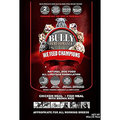 Bully Performance BP16932 All Life Stage Dog Feed Bag44; 40 lbs
