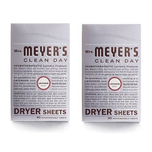 Mrs. Meyer's Clean Day Dryer Sheets - Lavender - 80 ct - 2 pk