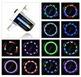 #7: AIKELIDA Bike Wheel Lights - Waterproof Ultra Bright 14 LED Bicycle Wheel Spoke Decorations Light - 30 Different Patterns Change - Colorful Bicycle Tire Accessories - Easy To Install