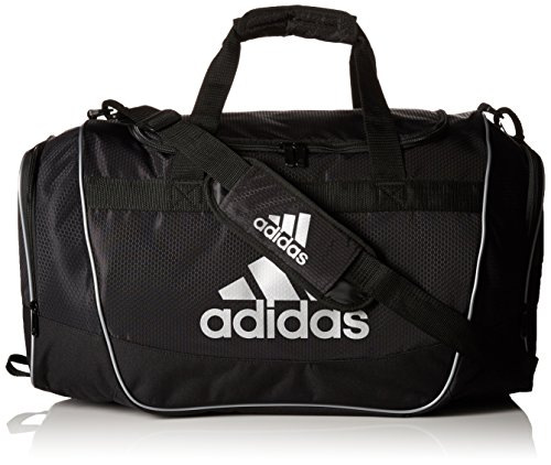 adidas Defender II Duffel Bag (Small), Black/Silver, 11.75 x 20.5 x 11-Inch