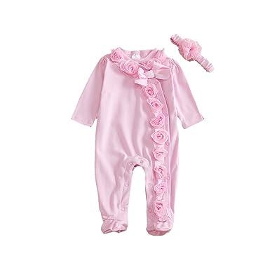 BOBORA Infantile Pour Bebe Filles Body Floral Barboteuse Combinaison De  Vetements 0-9 M  Amazon.fr  Vêtements et accessoires 94dc7cdf369