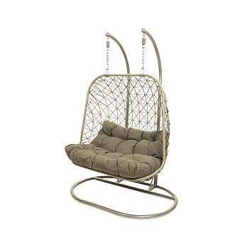 Kaemingk London Hanging Chair Grey Egg Hammock Basket Swing Chair Including Cushions Konozsigns Com