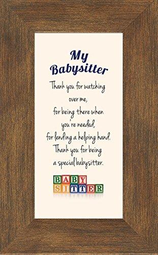 Babysitter Child Care Giver Framed Gift with Easel