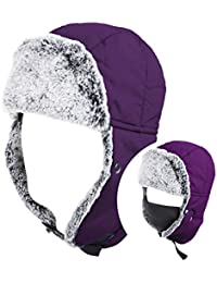 Unisex Winter Trooper Hat Hunting Hat Ushanka Ear Flap Chin Strap With Windproof Mask