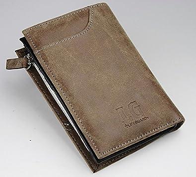 bf3c78d421dc Amazon   ヴィンテージ調特殊合成皮革採用‼ 多機能縦型ショート 3 KH   REDCROW   財布