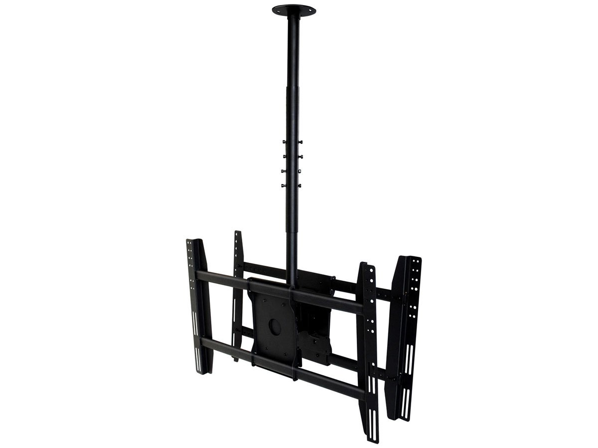 Monoprice Ceiling Bracket for Wall Mounts (Max 125lbs, 32~52inch) - Black by Monoprice