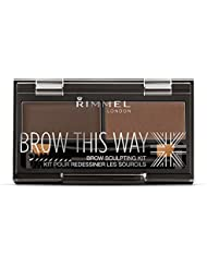 Rimmel Brow This Way Sculpting Kit, Dark Brown, Powder...