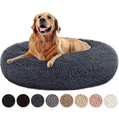 Yurun Hundebett Flauschig, Klein Hund Bett Haustierbett Plüsch Weich kuscheliges waschbar Runden Katze Schlafen Bett…