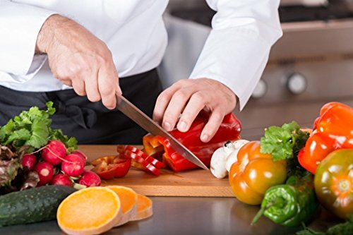 Chef Kitchen Knife, Professional 8 Inch Chef's Knife, High Carbon Stainless Steel Ultra Sharp Cutlery Knife with Ergonomic Handle, by Aicok
