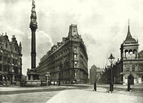 London. Westminster Palace Hotel-Column, Queen Anne's Mansion Royal Aquarium - 1896 - Old Print - Antique Print - Vintage Print - Printed Prints of London (Queen Anne Mansion)