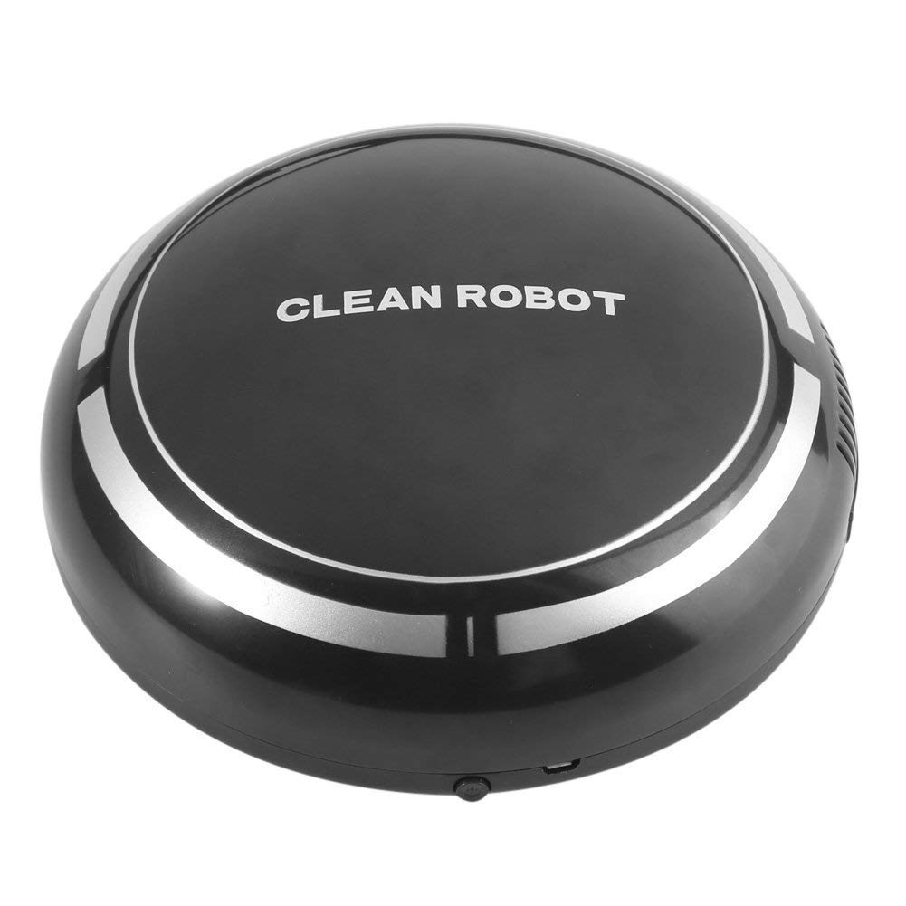 Robot Vacuum Cleaner,USB Rechargeable Vacuum Smart Sweeping Robot Slim Sweep Suction Mini Automatic Sweeping Machine Broom Household Sweeper Robots (Black)