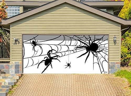 Victory Corps Spiders - Halloween Garage Door Banner Mural Sign Décor 7'x 16' Car Garage - The Original Holiday Garage Door Banner Decor