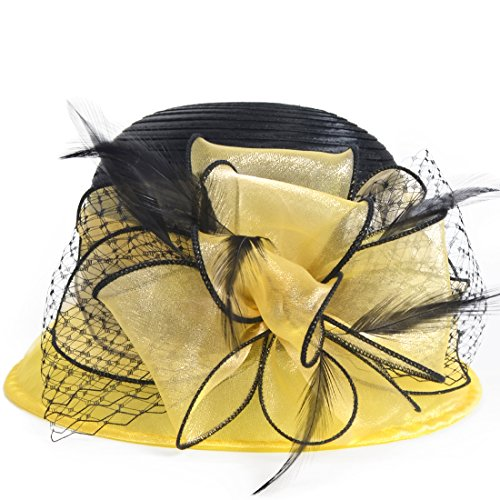 Kentucky Derby Dress Church Cloche Hat Sweet Cute Floral Bucket Hat -
