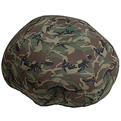 Oversized Kids Comfy Bean Bag Chair in Camouflage Cotton Fabric: Industrial & Scientific