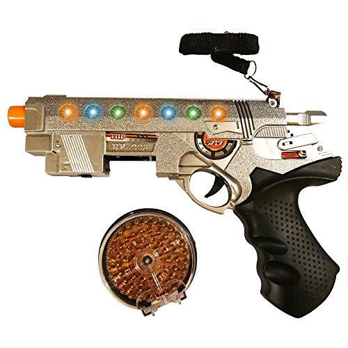 LilPals Super Gun - Pistol Features Flashing LED Lights and Playful Sounds. Supper Fun and Colorful