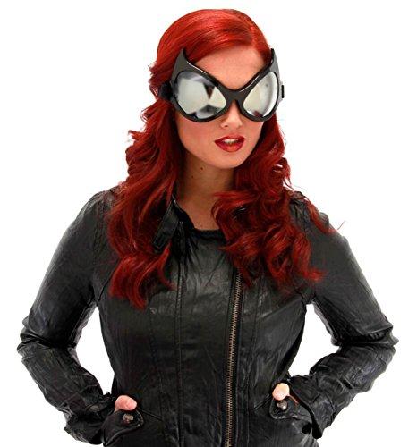 Black Frames Silver Lenses Cat Eye Goggles