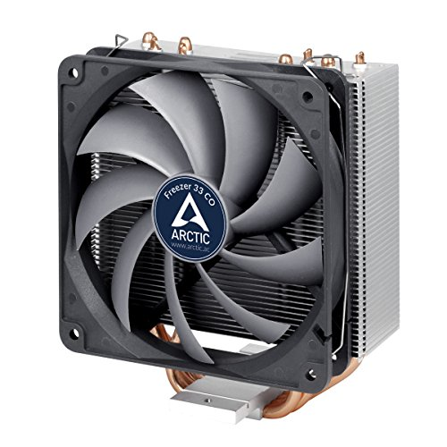 Arctic Freezer 33 CO – Semi passive Tower CPU cooler for Intel 115X/2011-3 and AMD AM4 with 120 mm PWM Fan, Silent high performance cooler – Grey/Black