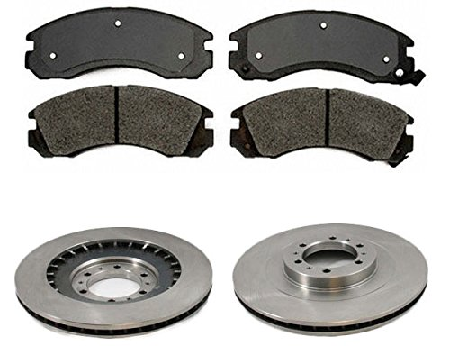Front Semi Metallic Brake Pad & Rotor Kit Set for 00-04 Montero Sport (Montero Front Brake)