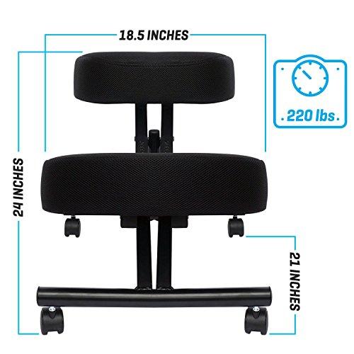 Ergonomic Kneeling Chair, Adjustable Stool (Double Thick