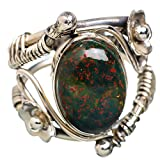 Ana Silver Co Rare Bloodstone 925 Sterling Silver Ring Size 6 RING822561