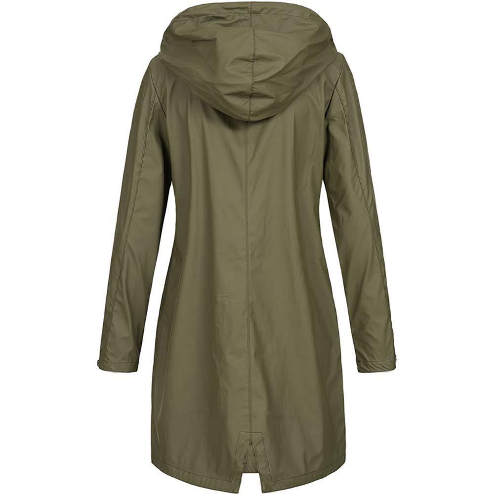 Ansenesna Regenjacke Damen Wasserdicht Winddicht Mit Kapuze Elegant Mantel Frauen Hardshell Lang Outdoor Sportlich Jacke