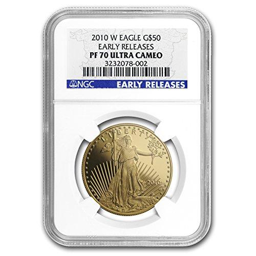 2010 W 1 oz Proof Gold American Eagle PF-70 NGC (ER) 1 OZ PF-70 NGC