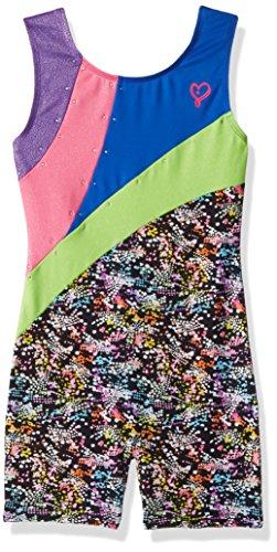 Girls Danskin Jacket (Jojo Siwa By Danskin Big Girls' Iridescent Sparkle Gymnastics Biketard, Multi, LG)