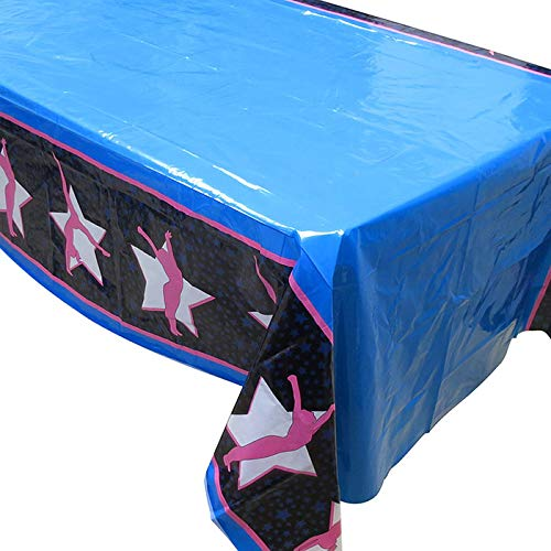 Blue Orchards Gymnastics Tablecovers (2), Gymnastics Party Supplies, Gymnast Competition, Decorations]()